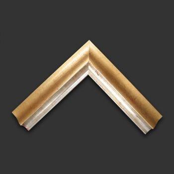 Enmarcación marco plata y oro