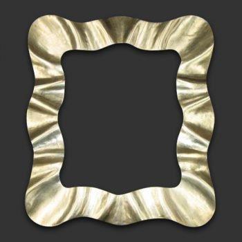 Marco espejo ondas oro