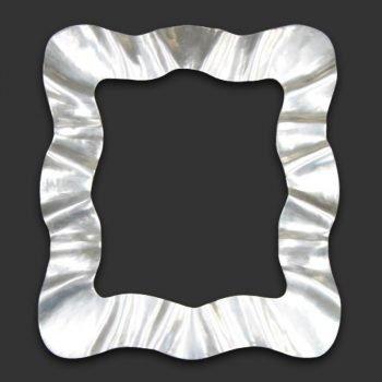 Marco espejo ondas plata
